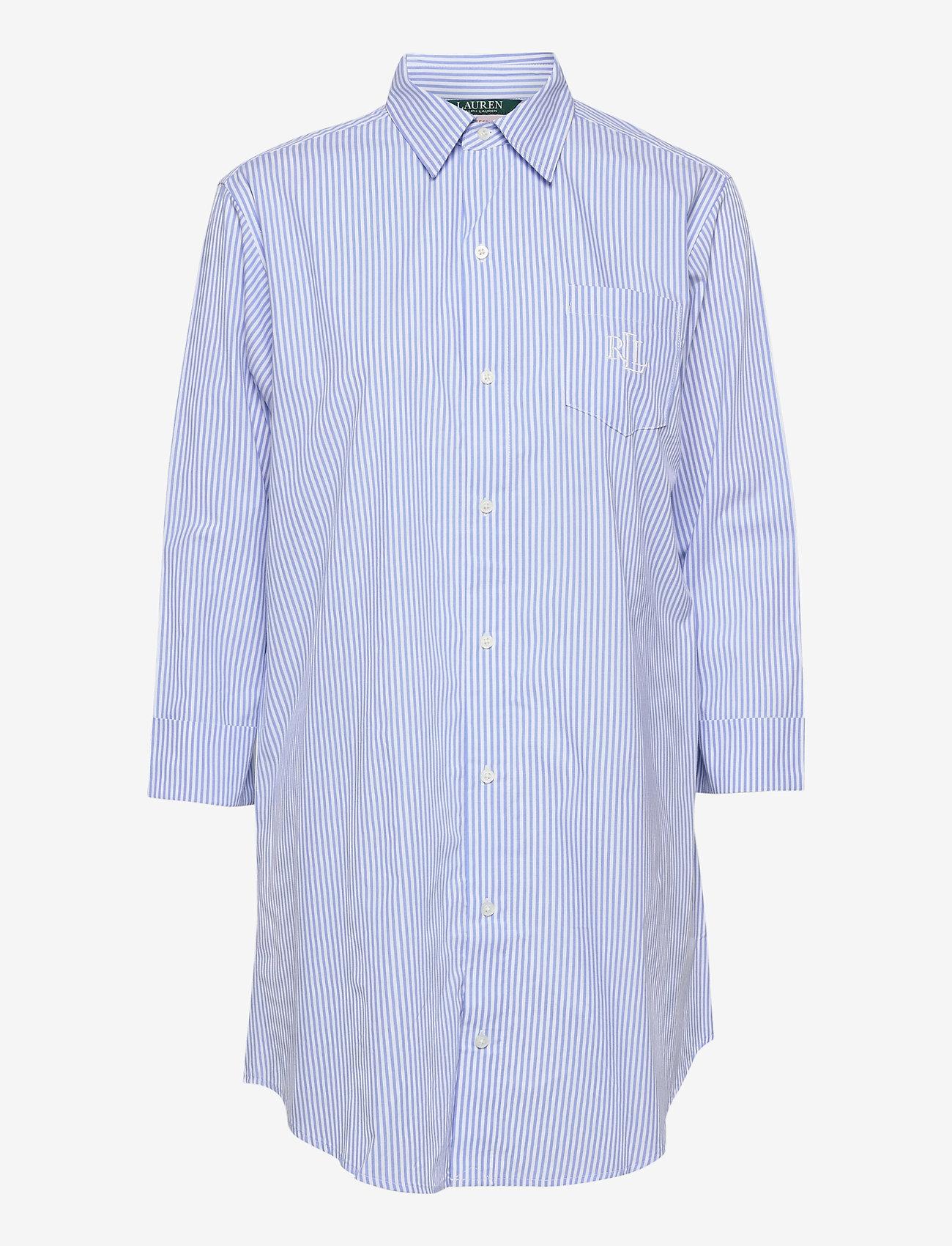 Lauren Ralph Lauren Homewear - LRL HERITAGE ESS. 3/4 SL SLEEPSHIRT - overdele - french blue/white - 0
