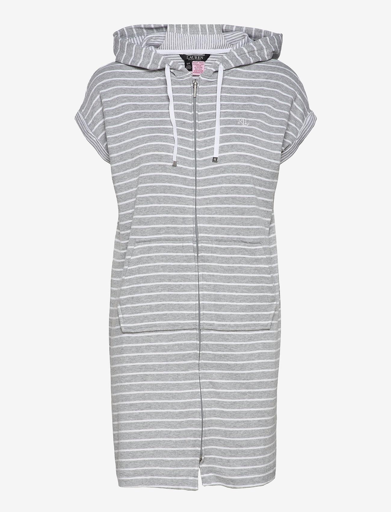 Lauren Ralph Lauren Homewear - LRL DROP SHOULDER HOODED ZIP LOUNGER - natkjoler - grey stripe - 0