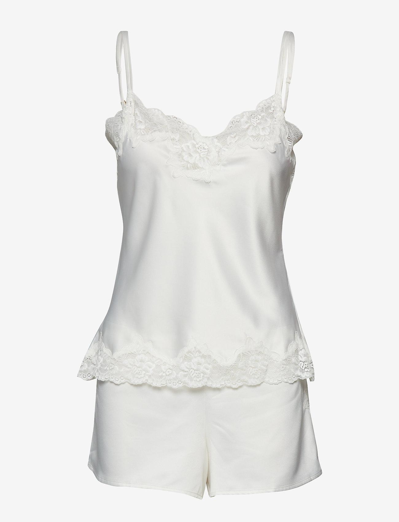 Lauren Ralph Lauren Homewear - LRL SIGNATURE LACE CAMI TOP SET - pyjama''s - ivory - 0