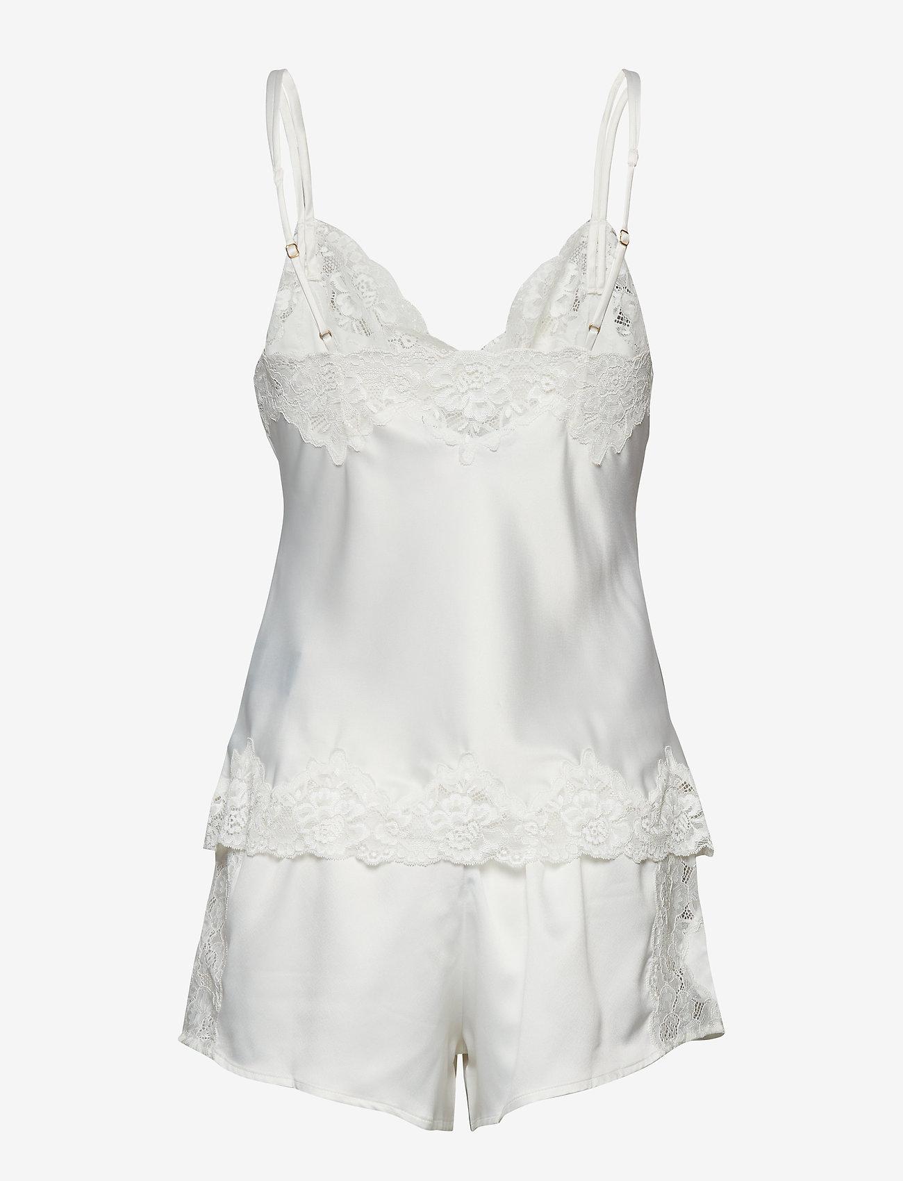 Lauren Ralph Lauren Homewear - LRL SIGNATURE LACE CAMI TOP SET - pyjama''s - ivory - 1