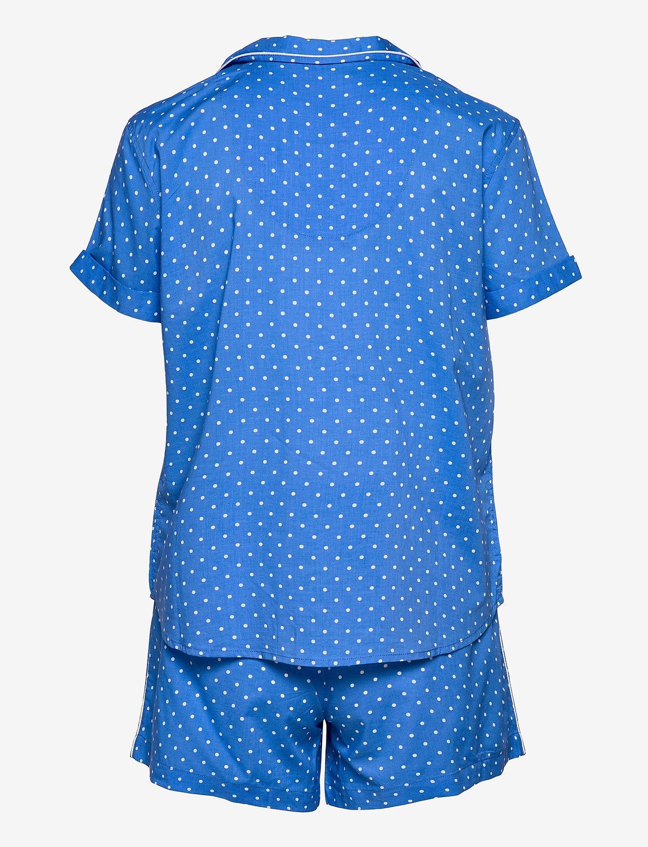 Lauren Ralph Lauren Homewear - LRL NOTCH COLLAR PJ BOXER SET S/SL - pyjamas - blue dot - 1