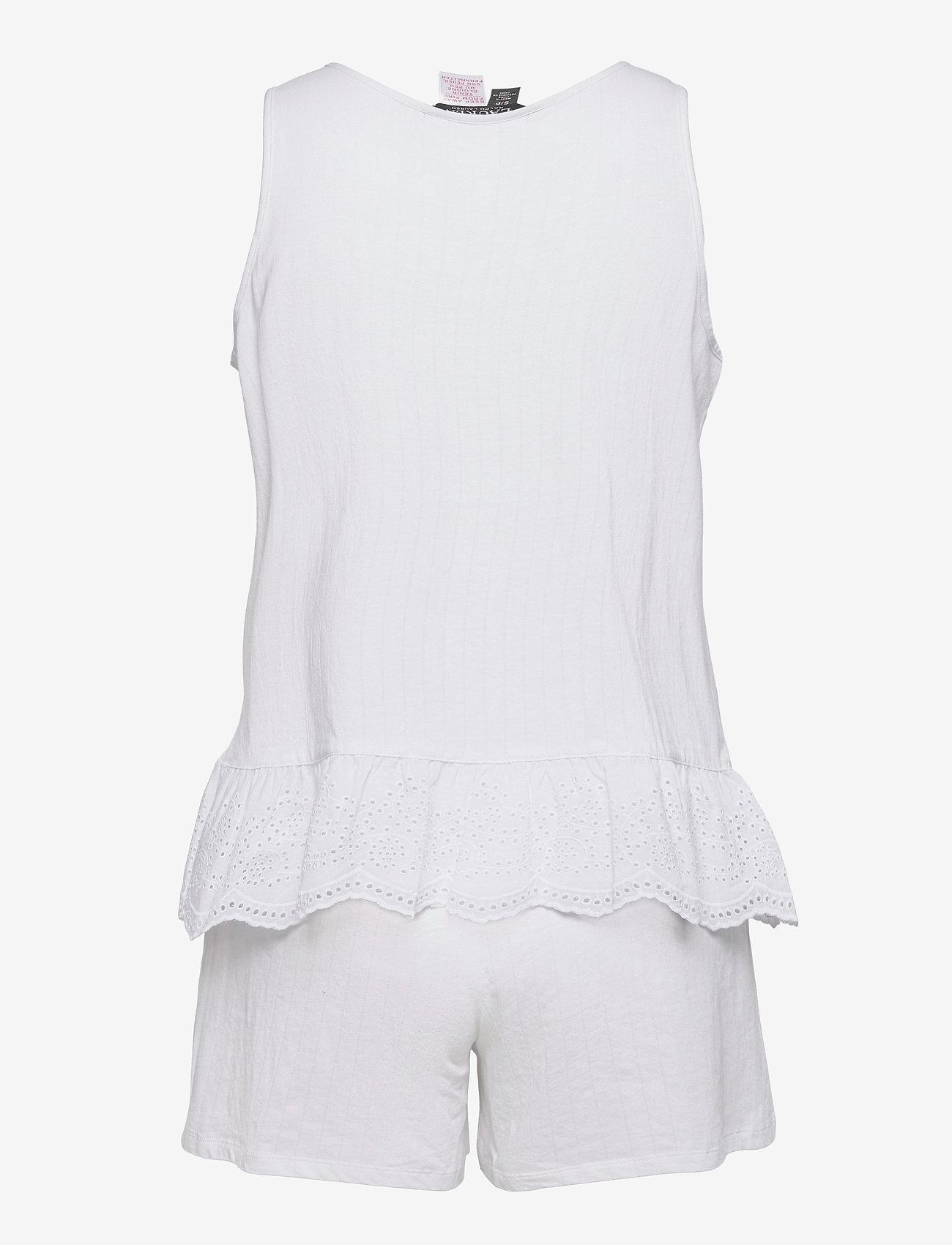 Lauren Ralph Lauren Homewear - LRL SLVLESS SPLIT NK EYLET BOXER PJ SET - pyjamas - white - 1