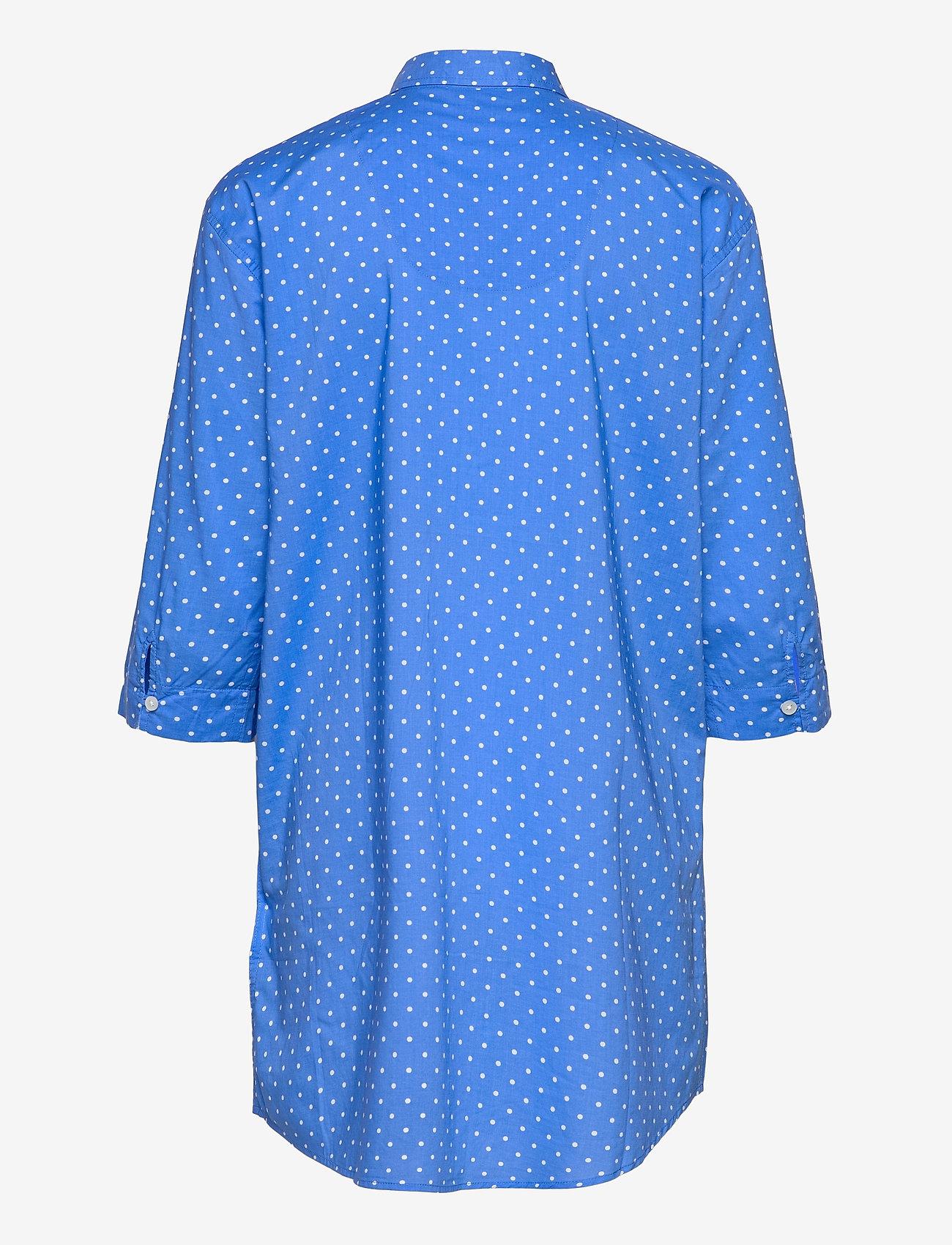 Lauren Ralph Lauren Homewear - LRL ROLL TAB HIS SLEEPSHIRT - natkjoler - blue dot - 1