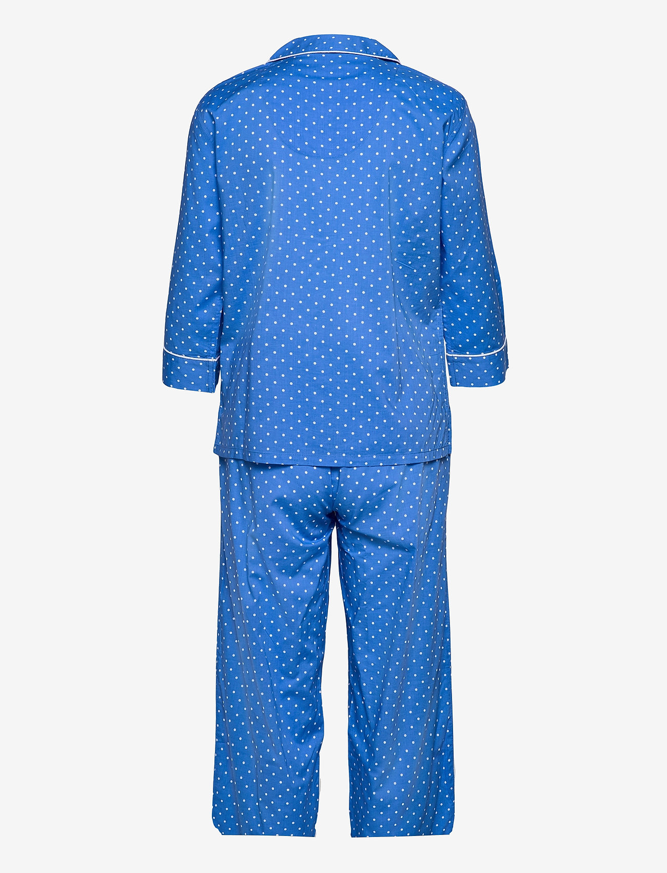 Lauren Ralph Lauren Homewear - LRL NOTCH COLLAR PJ SET 3/4 SL - pyjamas - blue dot - 1