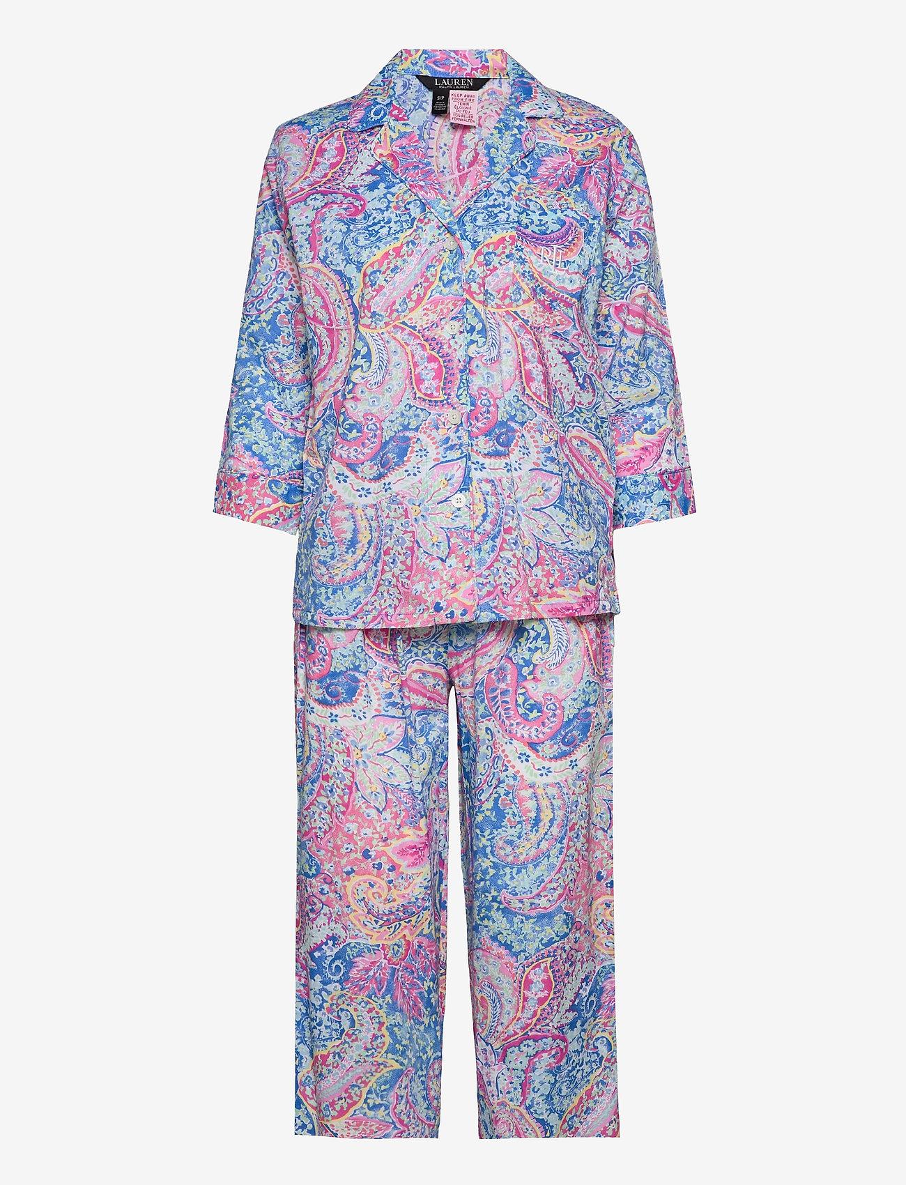 Lauren Ralph Lauren Homewear - LRL NOTCH COLLAR PJ SET 3/4 SL - pyjamas - multi paisley - 0