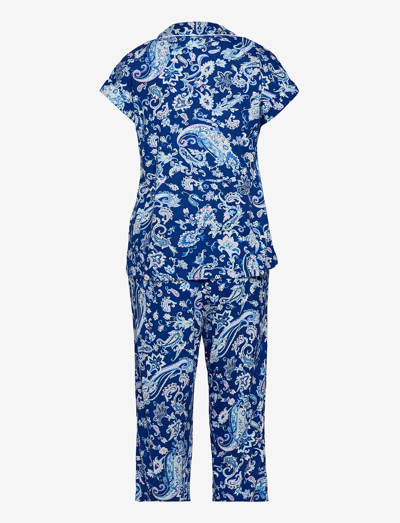 Lauren Ralph Lauren Homewear - LRL NOTCH COLLAR CAPRI PJ SET DOLMAN SL - pyjamas - blue paisley - 1