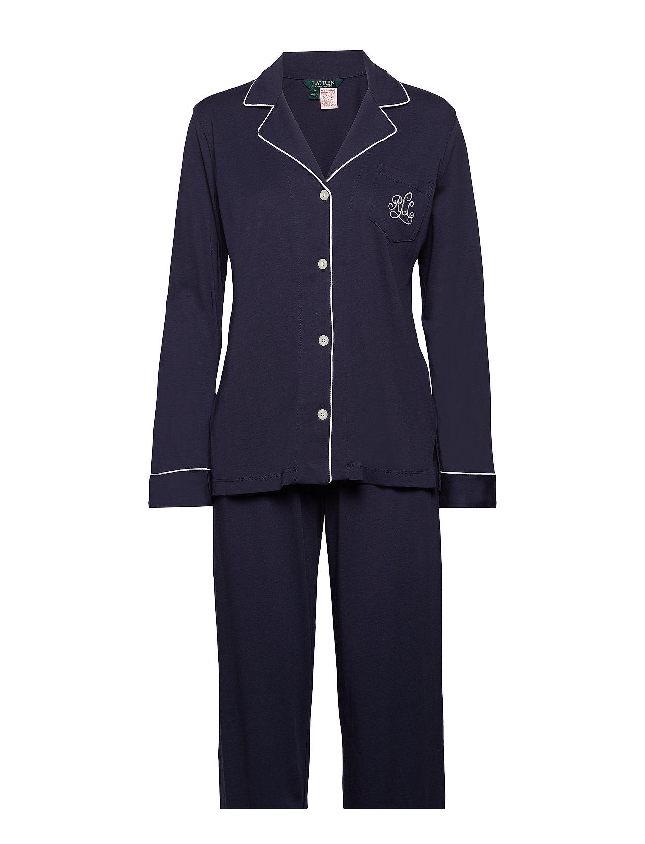 Lauren Ralph Lauren Homewear LRL HAMMOND KNIT COLLAR PJ SET - WINDSOR NAVY