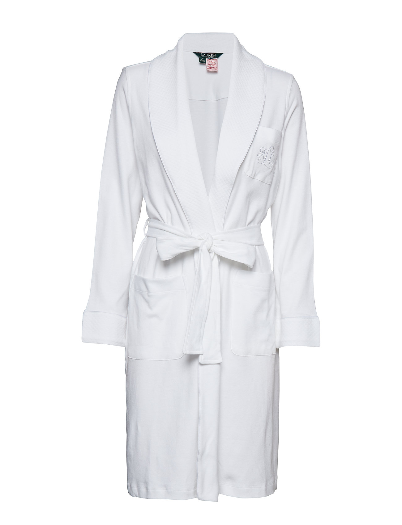 Lauren Ralph Lauren Homewear LRL ESSENTIAL QUILTED COLLAR ROBE - WHITE