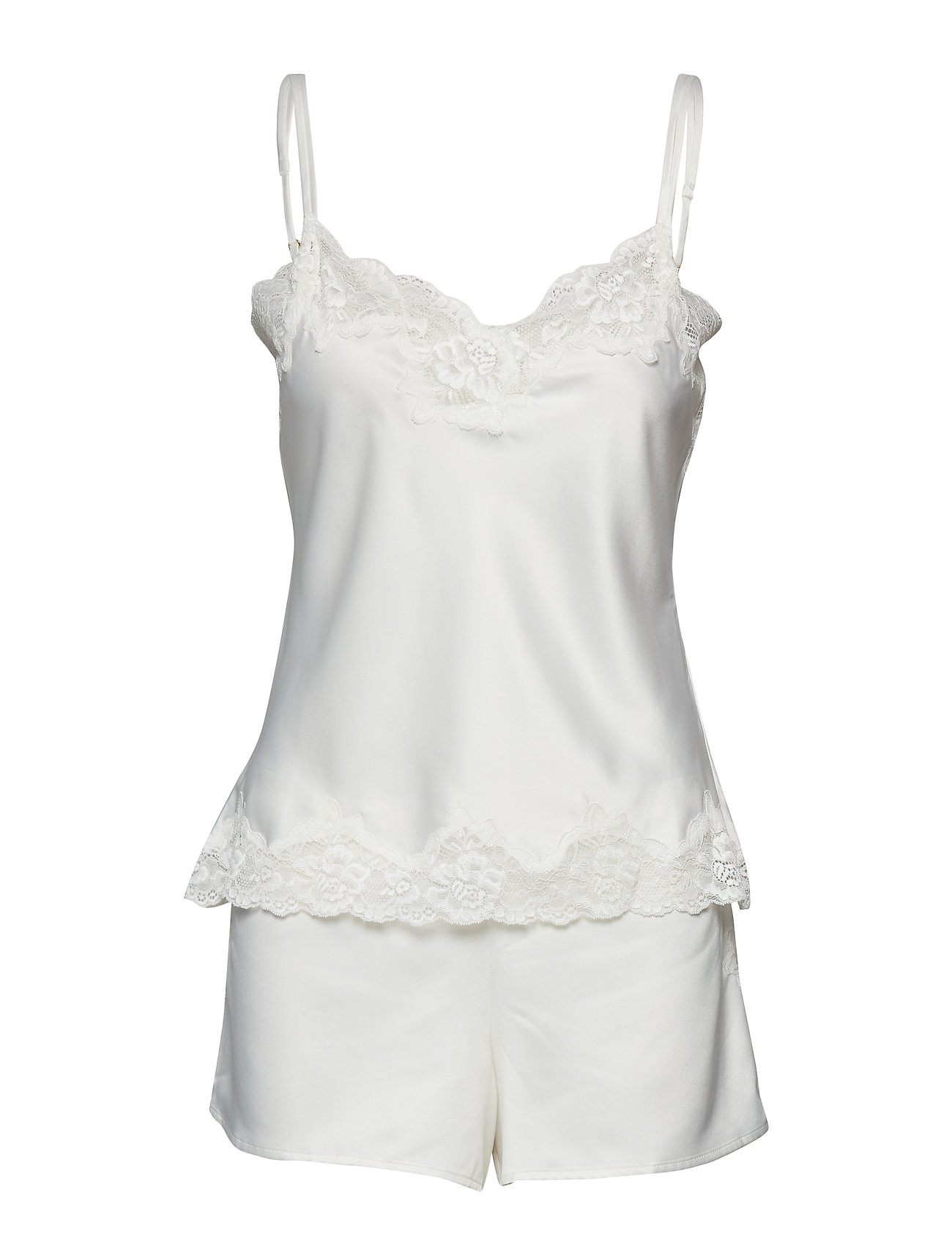 e515c7a2 Lrl Signature Lace Cami Top Set Pyjamas Nattøj Hvid LAUREN RALPH LAUREN  HOMEWEAR