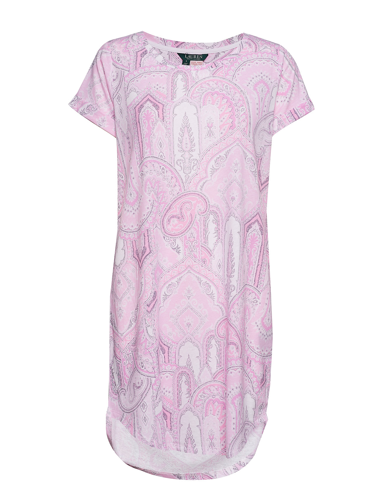 RALPH LAUREN Lrl Roll Cuff Sleepshirt Short Sl. Nachthemd Pink LAUREN RALPH LAUREN HOMEWEAR