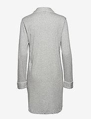 Lauren Ralph Lauren Homewear - LRL HAMMOND KNIT COLLAR SLEEPSHIRT - nachtjurken - grey heather - 1