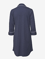 Lauren Ralph Lauren Homewear - LRL HERITAGE 3/4 SL CLASSIC NOTCH SLEEPS - nachtjurken - windsor navy/white dot - 1