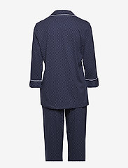 Lauren Ralph Lauren Homewear - LRL HERITAGE 3/4 SL CLASSIC NOTCH PJ SET - pyjama''s - windsor navy/white dot - 1