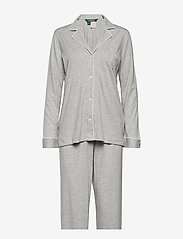 Lauren Ralph Lauren Homewear - LRL HAMMOND KNIT COLLAR PJ SET - pyjama''s - grey heather - 0