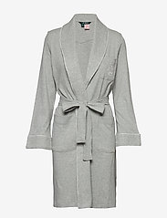 Lauren Ralph Lauren Homewear - LRL ESSENTIAL QUILTED COLLAR ROBE - badekåber - grey heather - 0