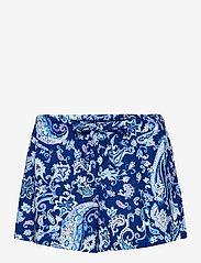 Lauren Ralph Lauren Homewear - LRL NOTCH COLLAR PJ BOXER SET S/SL - pyjamas - blue paisley - 2
