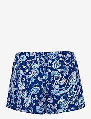 Lauren Ralph Lauren Homewear - LRL NOTCH COLLAR PJ BOXER SET S/SL - pyjamas - blue paisley - 3
