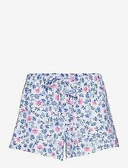 Lauren Ralph Lauren Homewear - LRL NOTCH COLLAR PJ BOXER SET S/SL - pyjamas - white/blue - 2