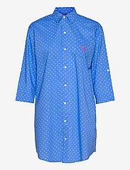 Lauren Ralph Lauren Homewear - LRL ROLL TAB HIS SLEEPSHIRT - natkjoler - blue dot - 0