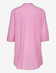 Lauren Ralph Lauren Homewear - LRL ROLL TAB HIS SLEEPSHIRT - natkjoler - pink stripe - 1