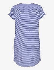 Lauren Ralph Lauren Homewear - LRL ROLL CUFF SLEEPTEE S/SL - natkjoler - blue stripe - 1