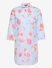 Lauren Ralph Lauren Homewear - LRL ROLL TAB SLV SLEEPSHIRT - natkjoler - turquoise/print - 0