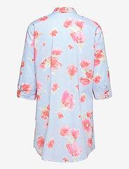 Lauren Ralph Lauren Homewear - LRL ROLL TAB SLV SLEEPSHIRT - natkjoler - turquoise/print - 1