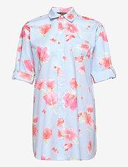 Lauren Ralph Lauren Homewear - LRL ROLL TAB SLV SLEEPSHIRT - natkjoler - turquoise/print - 2