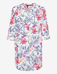Lauren Ralph Lauren Homewear - LRL FLUTE SLV SPLIT BUTTON DOWN SL.SHIRT LG - natkjoler - lg floral - 0