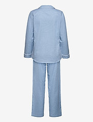 Lauren Ralph Lauren Homewear - LRL   NOTCH COLLAR LONG PANT PJ SET - pyjama''s - blue/white - 1