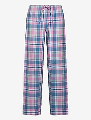 Lauren Ralph Lauren Homewear - LRL   NOTCH COLLAR LONG PANT PJ SET - pyjamas - pink plaid - 2