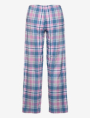 Lauren Ralph Lauren Homewear - LRL   NOTCH COLLAR LONG PANT PJ SET - pyjamas - pink plaid - 3
