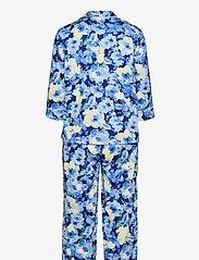Lauren Ralph Lauren Homewear - LRL NOTCH COLLAR PJ SET 3/4 SL - pyjamas - blue floral - 1