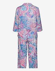 Lauren Ralph Lauren Homewear - LRL NOTCH COLLAR PJ SET 3/4 SL - pyjamas - multi paisley - 1