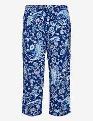 Lauren Ralph Lauren Homewear - LRL NOTCH COLLAR CAPRI PJ SET DOLMAN SL - pyjamas - blue paisley - 2
