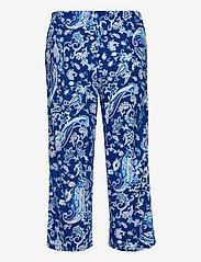 Lauren Ralph Lauren Homewear - LRL NOTCH COLLAR CAPRI PJ SET DOLMAN SL - pyjamas - blue paisley - 3