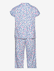 Lauren Ralph Lauren Homewear - LRL NOTCH COLLAR CAPRI PJ SET DOLMAN SL - pyjamas - white/blue - 1