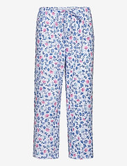 Lauren Ralph Lauren Homewear - LRL NOTCH COLLAR CAPRI PJ SET DOLMAN SL - pyjamas - white/blue - 2