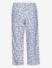 Lauren Ralph Lauren Homewear - LRL NOTCH COLLAR CAPRI PJ SET DOLMAN SL - pyjamas - white/blue - 3