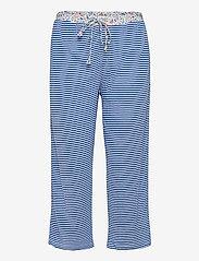 Lauren Ralph Lauren Homewear - LRL ROLL CUFF CAPRI PJ SET S/SL - pyjamas - blue stripe - 2