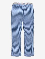 Lauren Ralph Lauren Homewear - LRL ROLL CUFF CAPRI PJ SET S/SL - pyjamas - blue stripe - 3