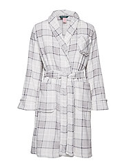 LRL SHAWL COLLAR ROBE 100 CM FOLDED - GREY PLAID