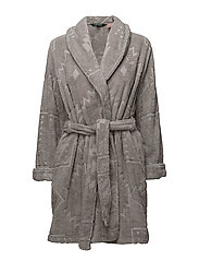 LRL GILDED AGE SCULPTED TERRY ROBE - PALE GREY