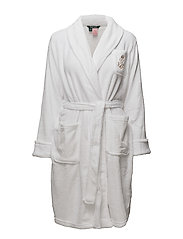 LRL GILDED AGE COLLAR SOFT ROBE SOLID - WHITE