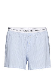 LRL ESSENTIALS SOFT JERSEY LOGO BOXER - PALE BLUE STRIPE