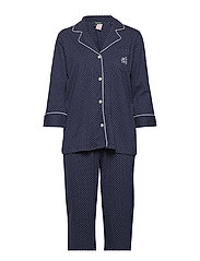 LRL HERITAGE 3/4 SL CLASSIC NOTCH PJ SET - WINDSOR NAVY/WHITE DOT