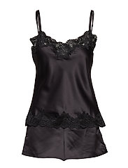 LRL SIGNATURE LACE CAMI TOP SET - BLACK