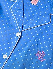Lauren Ralph Lauren Homewear - LRL NOTCH COLLAR PJ BOXER SET S/SL - pyjamas - blue dot - 4