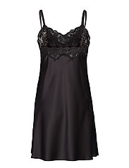 Lauren Ralph Lauren Homewear - LRL SIGNATURE LACE CHEMISE - natkjoler - black - 1