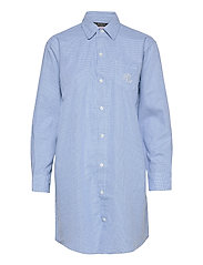LRL  HIS SHIRT  SLEEPSHIRT - BLUE/WHITE